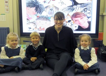 Author visit for Pre-Prep ahead of World Book Day