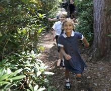 Pupils in woods