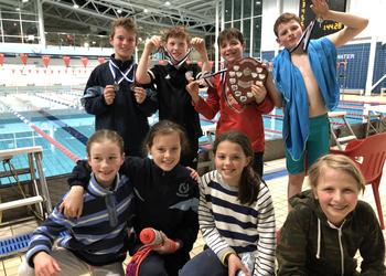 U11 Boys are Surrey swimming champions