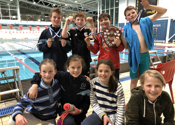 U11 Boys are Surrey swimming champions
