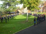 The Upper School gathered to remember the Fallen