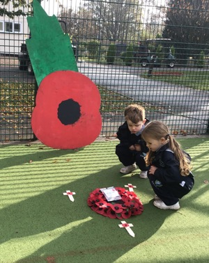 Pre-Prep laid their own wreaths to remember the Fallen
