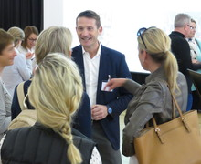 Dr Phil Hopley chatting with parents
