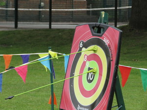 Summer fayre 2018 archery on target