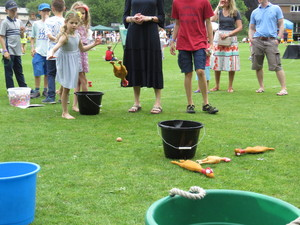 Summer fayre 2018 throwing a chicken