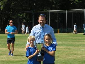 Badger captains accept trophy