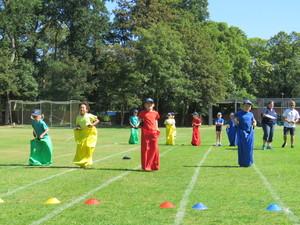 Pre prep sports day sack race